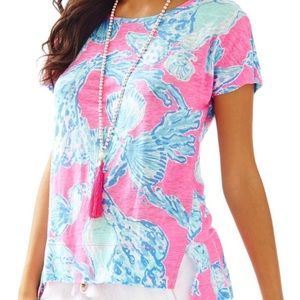 4/$25 Lilly Pulitzer Mikela Linen Tee